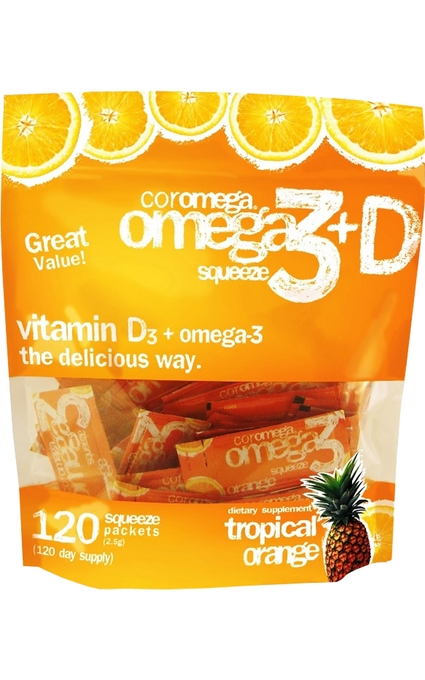 Omega-3 Squeeze Tropical Orange + Vit D Super Value Bag