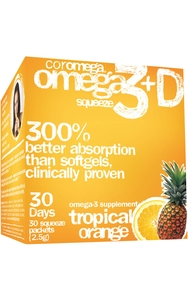 Omega-3 Squeeze Tropical Orange + Vit D