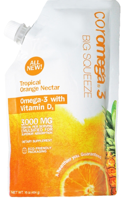 Omega3 Big Squeeze - Tropical Orange + D