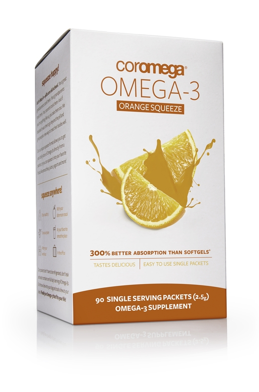 Omega-3 Squeeze Packets Orange