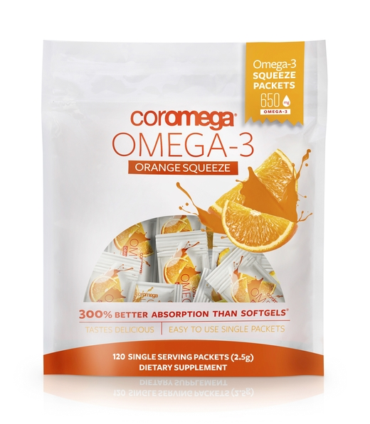 Omega-3 Squeeze Orange - Super Value Bag