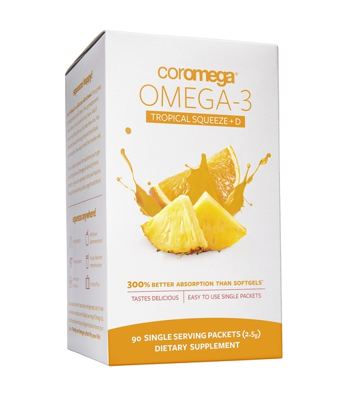 Omega-3 Squeeze Tropical Orange + D