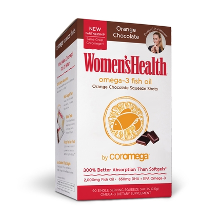 Women's Health Omega-3 Fish Oil 90 Count, Orange Chocolate