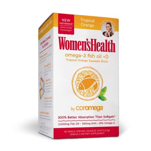 Women's Health Omega-3 Fish Oil 90 Count, Tropical Orange + D