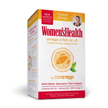 Women's Health Omega-3 Fish Oil 90 Count, Tropical Orange + D