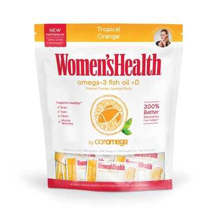 Women's Health Omega-3 Fish Oil 120 Count, Tropical Orange + D Super Value Bag