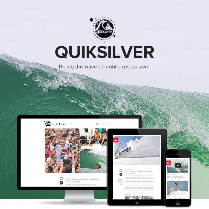 Quiksilver - Riding the Wave of Mobile Responsive
