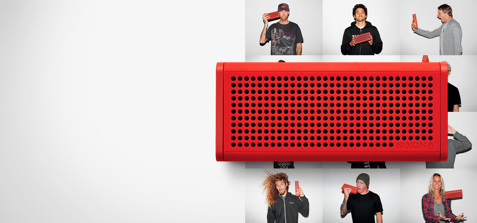Nixon responsive website for Blaster wireless speaker