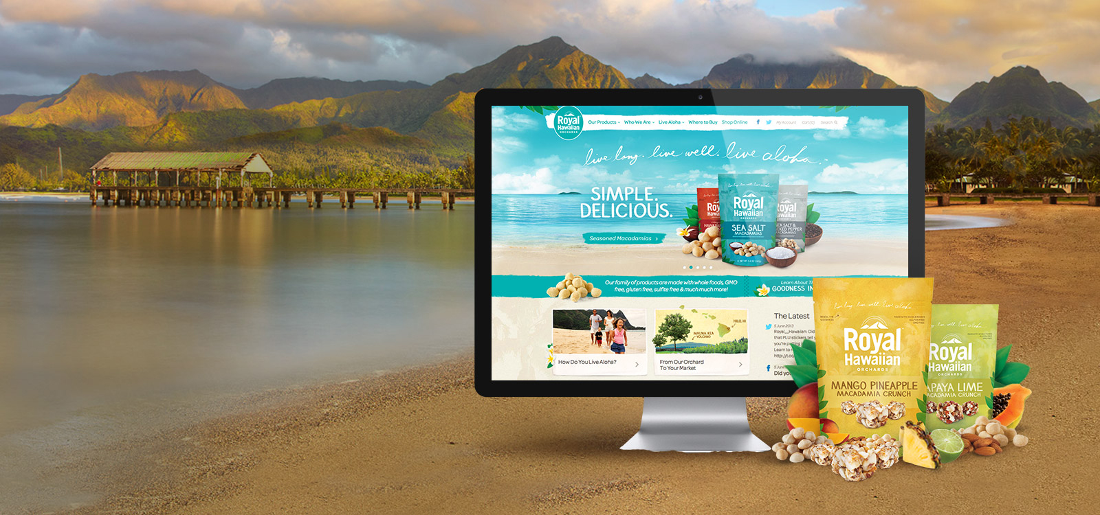 Royal Hawaiian snack brand digital marketing & website development