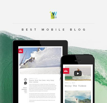 Cuker Wins Best Mobile Blog For Quiksilver