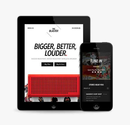 Cuker Wins Best Mobile Website for Nixon Blaster