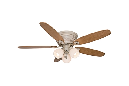 """54"""" Caledonia Ceiling Fan - Burnished Crème"""