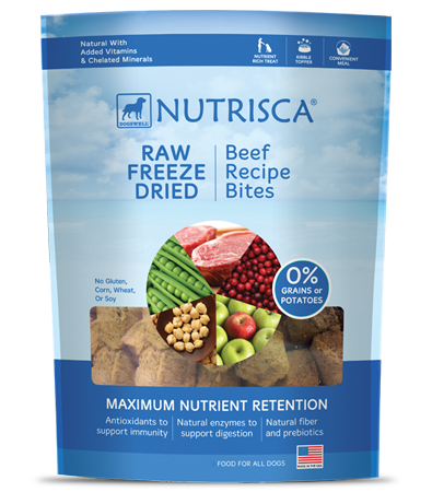Nutrisca® Raw Freeze Dried Beef Bites