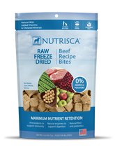 Nutrisca® Raw Freeze Dried Bites Beef Treats