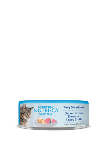 Nutrisca® Truly Shredded® Chicken & Tuna Entrée In Savory Broth Canned Cat Food