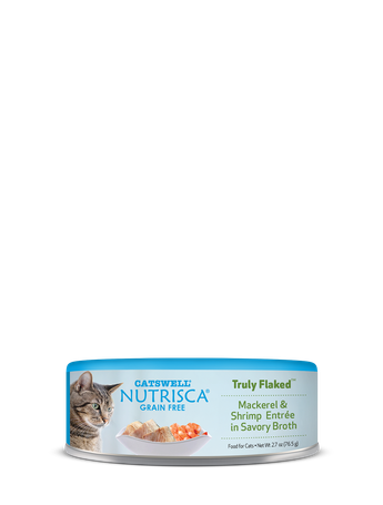 Nutrisca® Truly Flaked® Mackerel & Shrimp Entrée In Savory Broth Canned Cat Food