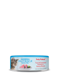 Nutrisca® Truly Flaked® Tuna & Seaweed Entrée In Savory Broth Canned Cat Food