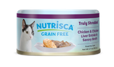 Nutrisca® Truly Shredded® Chicken & Chicken Liver Entrée In Savory Broth Canned Cat Food