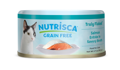 Nutrisca® Truly Flaked® Salmon Entrée In Savory Broth Canned Cat Food