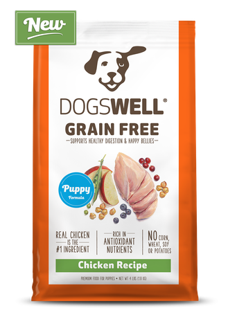 NEW Dogswell® Grain Free Puppy Chicken Recipe