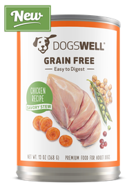 NEW Dogswell® Grain Free Savory Stew Chicken Recipe