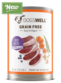 NEW Dogswell® Grain Free Savory Stew Duck Recipe