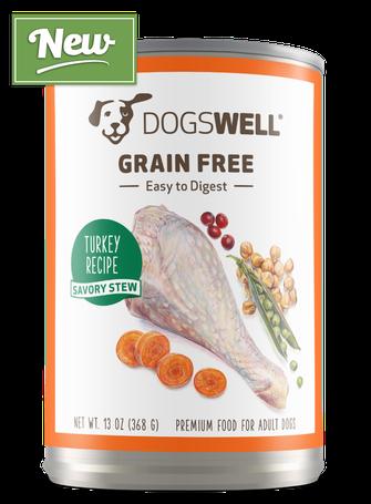 NEW Dogswell® Grain Free Savory Stew Turkey Recipe