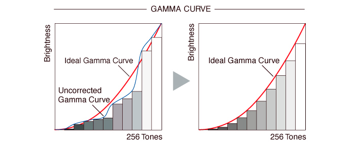 10-bit gamma correction