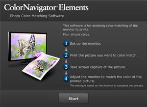 ColorNavigator Elements top window