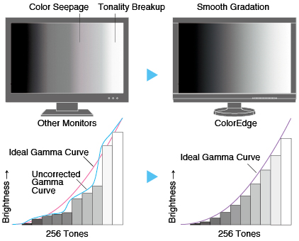 Gamma adjustment