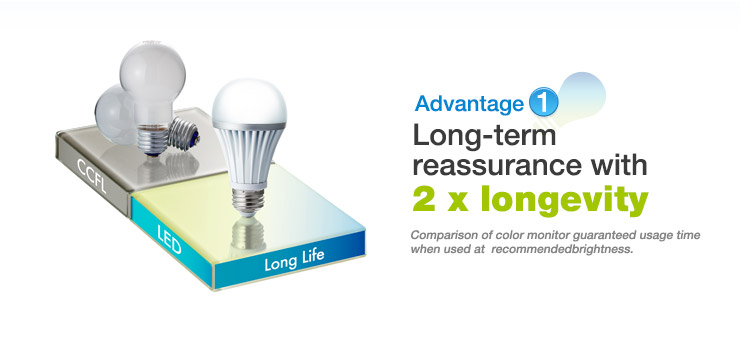 Advantage1 Long-term reassurance with 2 x longevity.