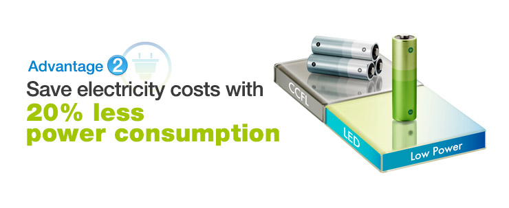 Advantage2  Save electricity costs with 20% less power consumption