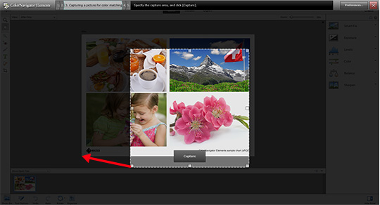 Drag the corners of the frame to enlarge it to fit the exact size of the picture in your image retouching software