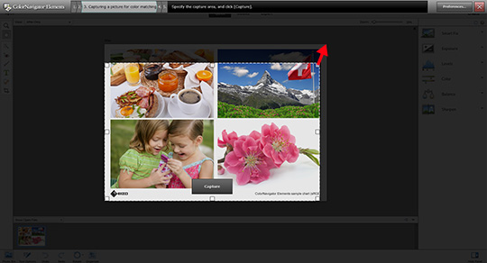 Drag the corners of the frame to enlarge it to fit the exact size of the picture in your image retouching software.