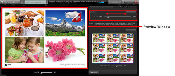 Move the Luminance slider left or right to match the brightness of the monitor to the print.