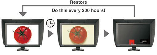 Restore   Do this every 200 hours!