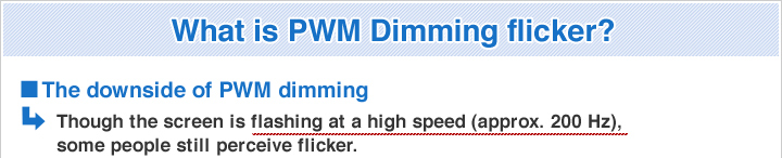 What is PWM Dimming flicker?