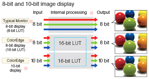 10-bit display