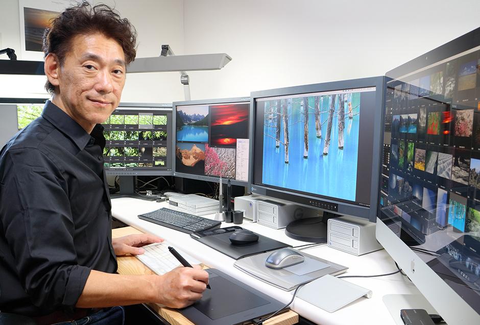 Mr. Kohji Suwa and EIZO ColorEdge monitors