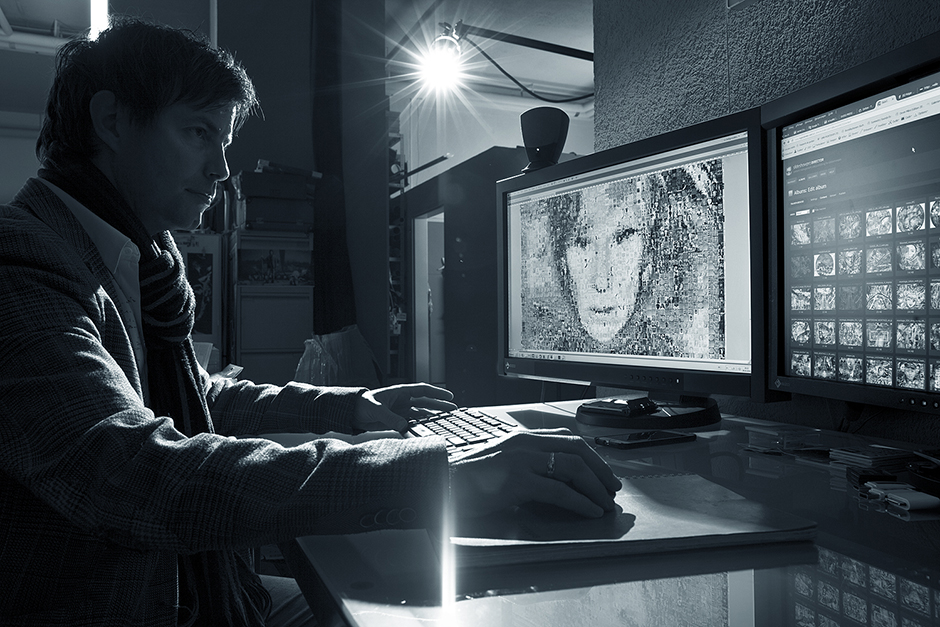 Mr. Regis Colombo and EIZO ColorEdge CG277