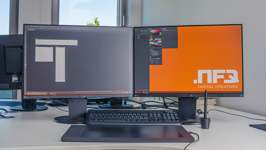 EIZO FlexScan EV2455 monitors at Netzfrequenz GmbH