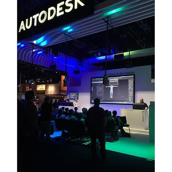 Our friends at Autodesk presenting with the CG277 #NABShow #EIZO