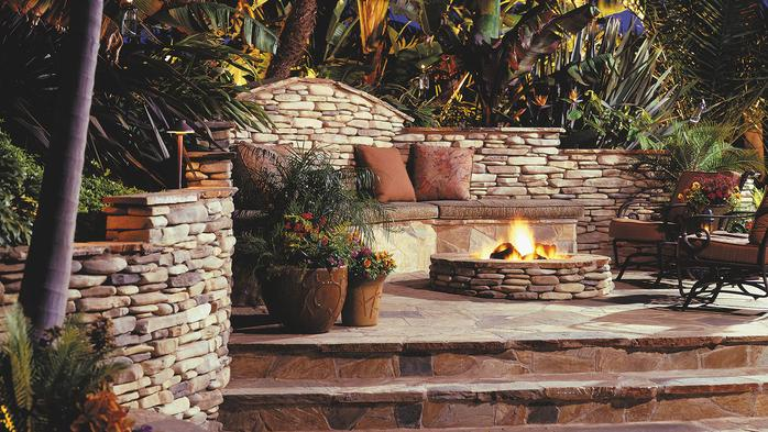 Fireplaces fire pit for Eldorado outdoor fireplace