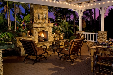 Eldorado Stone Outdoor Fireplace
