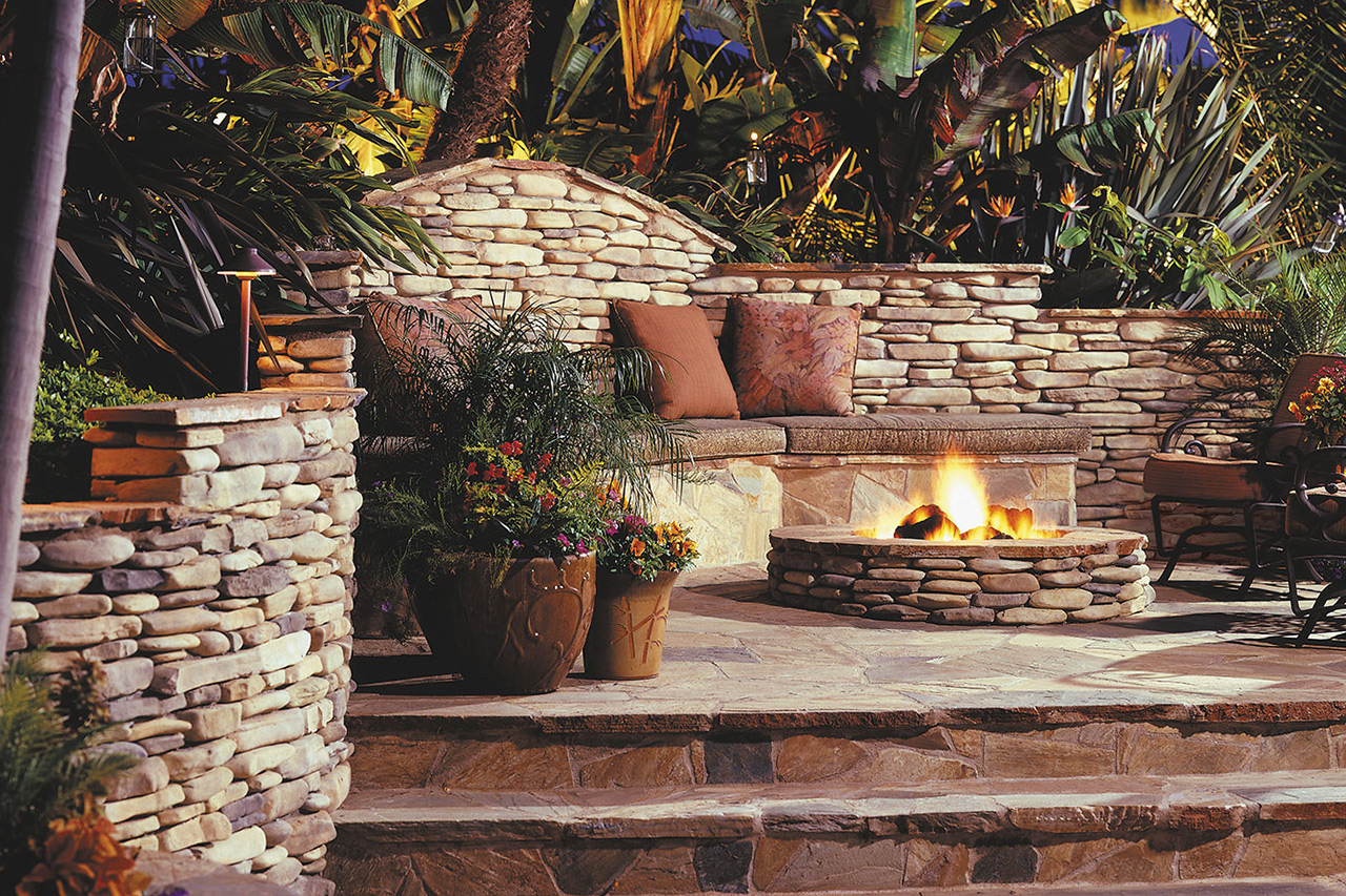 Victory Stone Gas Burning Firepit