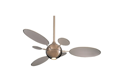 "Cirque - 54"" Ceiling Fan - Brushed Nickel Motor Finish with Silver Blades"