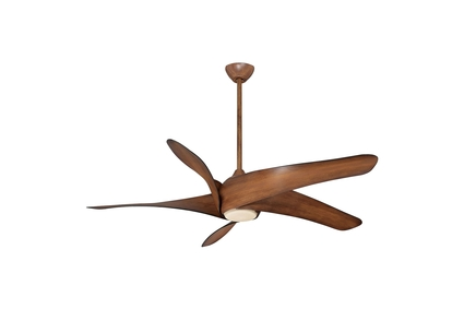 "Artemis XL5 - 62"" Ceiling Fan - Distressed Koa Motor Finish with Distressed Koa Blades"
