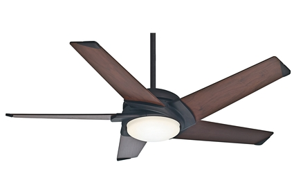 "Stealth DC - 54"" Ceiling Fan - Maiden Bronze Finish with Reversible Espresso / Smoked Walnut Blades"