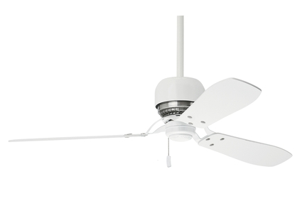 "Tribeca - 52"" Ceiling Fan - Snow White Finish with Reversible Burnt Walnut / Walnut Blades"
