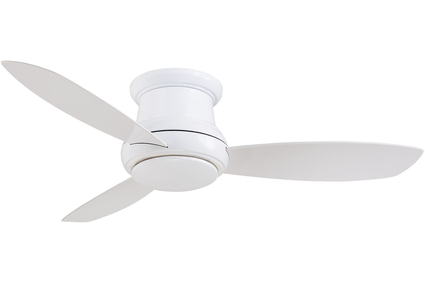 "Concept II - 44"" Flush Mount Ceiling Fan - White Motor Finish with White Blades"